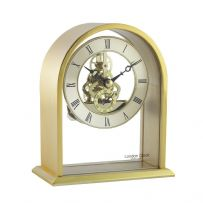 London Clock Company 03128 Gold Finish Arch Top Skeleton Mantel Clock